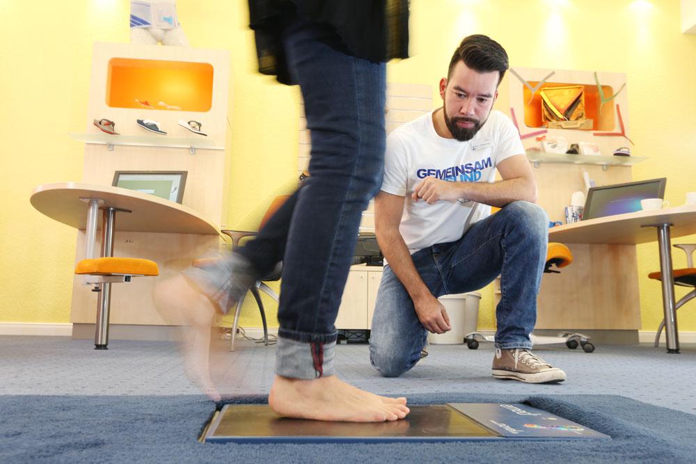 Orthopädische Einlagen mit Hilfe einer Fußanalyse