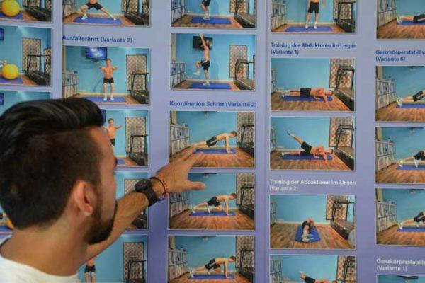 Übungen für die Ganganalyse