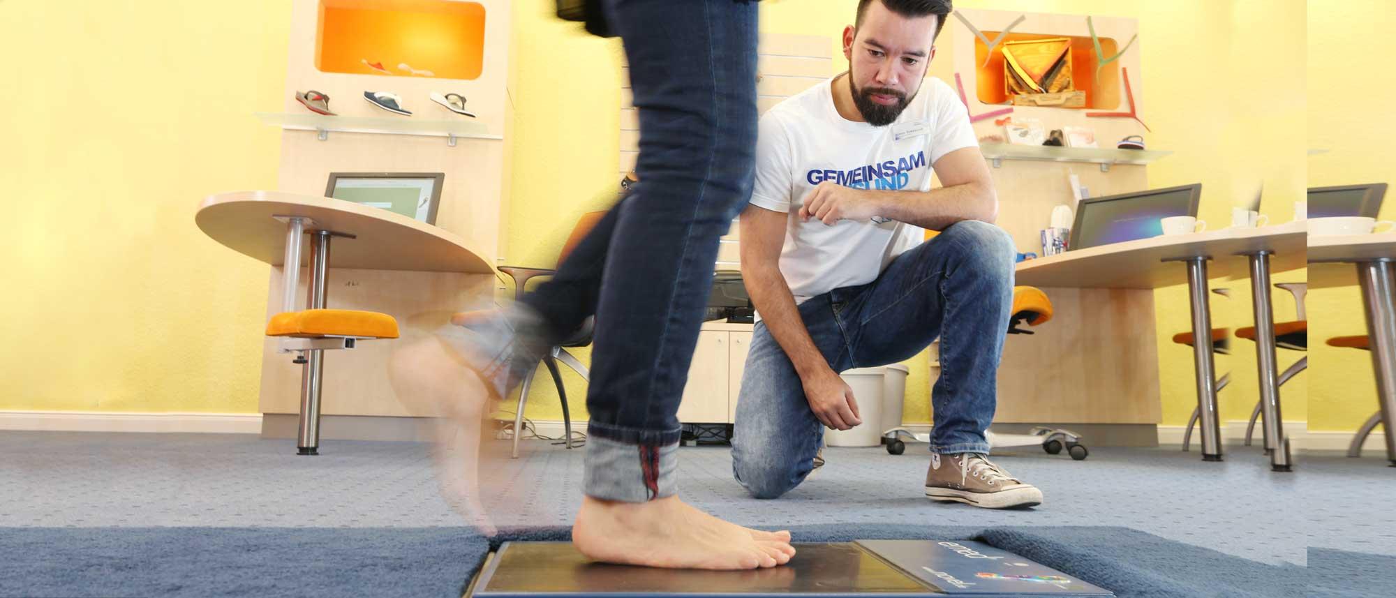Fußanalyse mithilfe des dynamischen Fußabdruckes