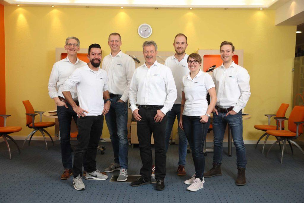 Team für den Schuhbau bei Kriwat in Kiel