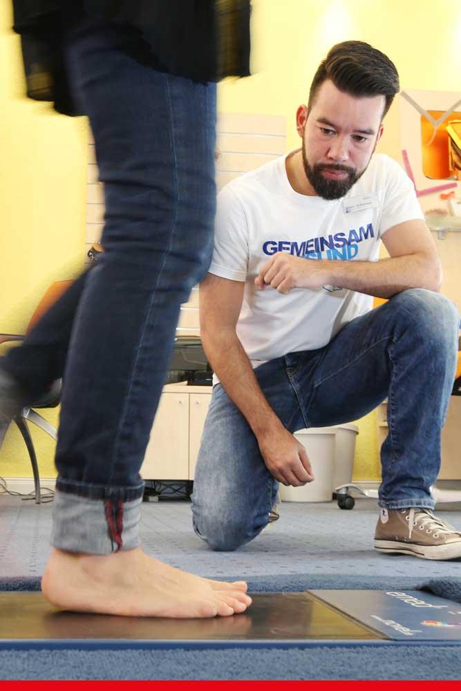 Fußdruckmessung mit einem dynamischen Fußabdruck