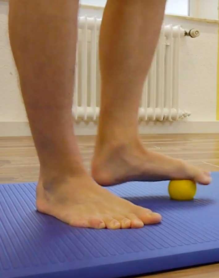 Massageball für das Fußtraining